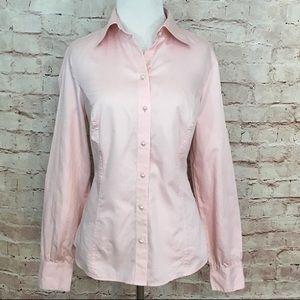 Loft Pale Pink Button Down Shirt