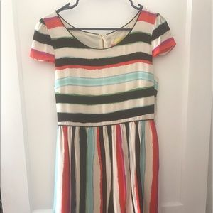 Anthropologie Maeve Cap sleeve multicolored dress