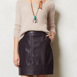 Anthro Vanessa Virginia Vegan Leather Skirt (4)