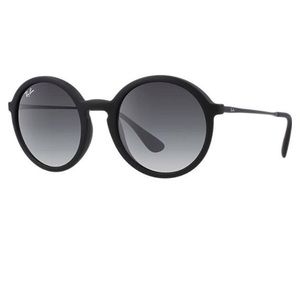 Ray Ban RB4222 black matte round sunglasses