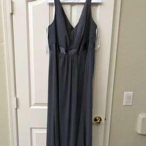 David's Bridal Vera Wang Pewter Dress - Never worn