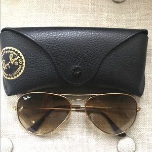 Classic Ray Ban Aviators - Gold Frame/Brown Lense