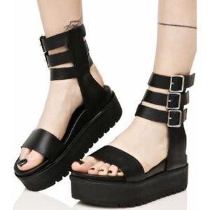 BNWT LF SHELLYS LONDON Platform Gladiator Sandals