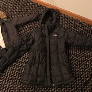 Black padded winter coat