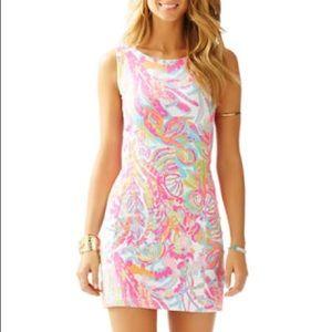 Lilly Pulitzer WHITING CUTOUT SHIFT DRESS