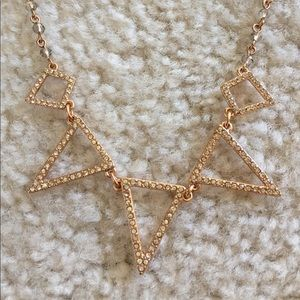 Express Jewelry Rose Gold Geometric Necklace Poshmark