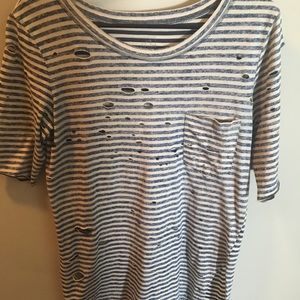 Stripped comfy tee