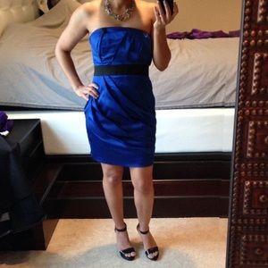 Express / Royal Blue / Strapless Dress