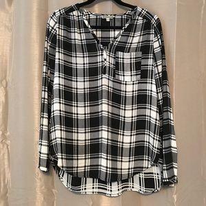 Plaid Long Sleeve Tunic