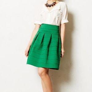 Girls From Savoy Anthro Green Bandage Skirt