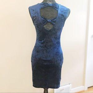 Forever 21 Velvet Bodycon Dress with Bow Detail