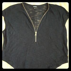 Express shirt/cover up xs