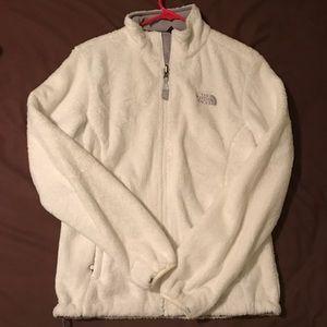 White Fleece The North Face Full Zip Jacket