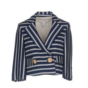 Diane von Furstenberg striped cotton blazer jacket