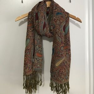 Paisley patterned scarf