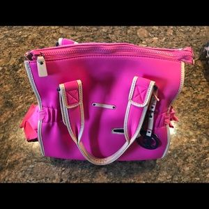 Hot Pink Zip top Juicy Couture tote