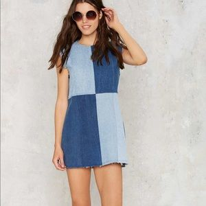 Nasty Gal After Party Patch My Drift Denim Dress