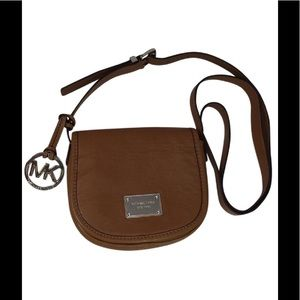 Michael Kors Brown Leather Small Crossover