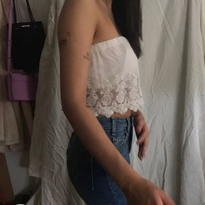 SIZE S white strapless top forever 21