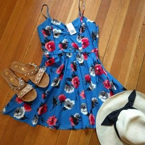NEW Floral Fit and Flare Spaghetti Strap Dress