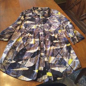 Macy's geometric tunic