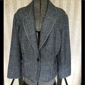 Coldwater Creek plus size gray blazer