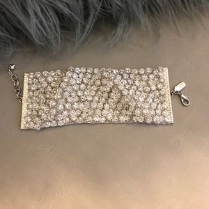 Thick Swarovski crystal bracelet