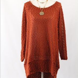 Sweater Tunic with Tie-Back Detail