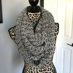 Silver & Gray Infinity Scarf