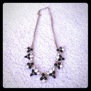 Jcrew Factory Black and clear statement necklace