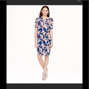 J.Crew Petite 4 Blue Flower Dress