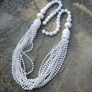 Vintage plastic bead necklace
