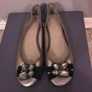 Old Navy Pewter Jeweled Flats - Size 7