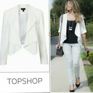 Topshop Waterfall Cropped Jacket