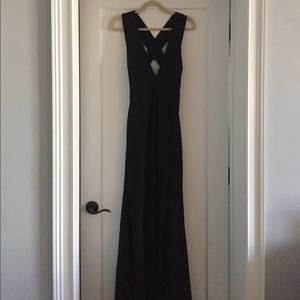 Heaven and Earth Black Maxi dress from Lulu's