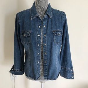 Jeans shirt with buttons