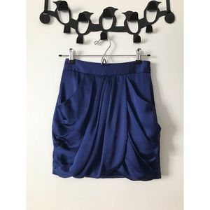 Club Monaco Silk Draped Skirt