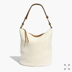 Madewell Lisbon o-ring leather bag with shearling