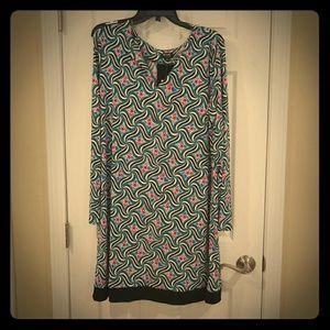 Womens XL Multi Color Shift Dress