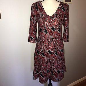 Beautiful Papillion 3/4 Sleeve Fall Dress