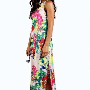 NWT Tropical Print Woven Maxi Sz 4/6