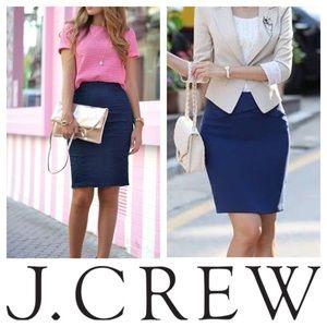 J crew navy blue skirt