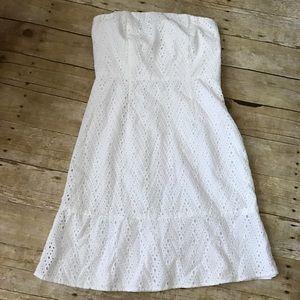 The Limited White Eyelet Dress