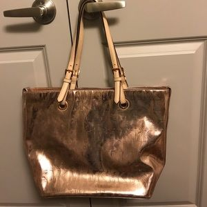 Rose gold authentic Michael Kors purse