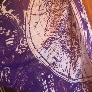 World Map Scarf