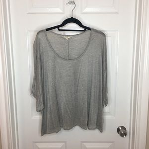 BCBGeneration gray crop top