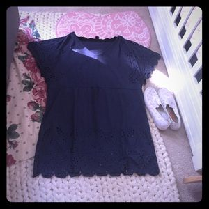 Navy Lasercut Mini/Tunic