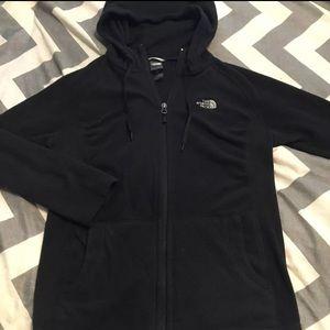 Women's black North Face jacket Medium