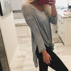Free People Grey Knit Tunic