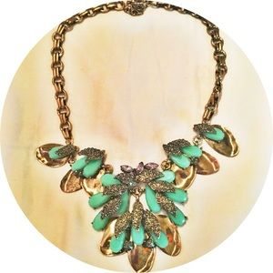 T&J Designs crystal and resin statement necklace